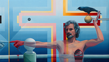 Horst Maria Guilhauman: Dies Irae-Behold The Master�s Tools (2013) - 42 x24 - Oil on linen canvas
