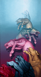 Horst Maria Guilhauman: Metamorphosis (2005) - 26 x 48 - Oil on linen canvas