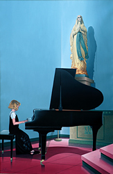 Horst Maria Guilhauman: Madonna and Child (2005) 32 x 48 - Oil on linen canvas, For Sale